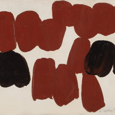 Stephen Gilbert - Untitled (Red and Black), 1957