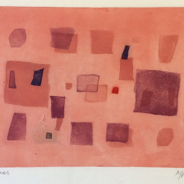 André Bicât - Abstract Composition (Reds)