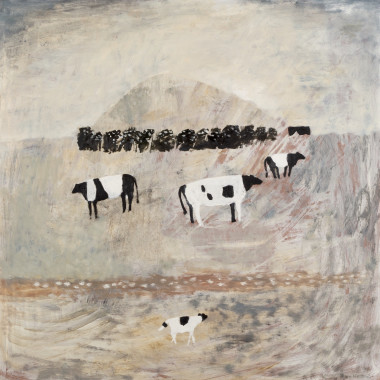 Mary Newcomb - Hill Across the Marsh (Cows), 1968