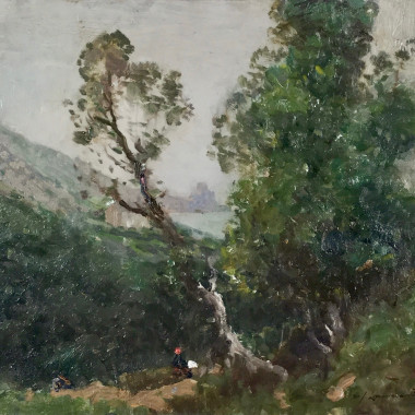 Samuel John Lamorna Birch - Misty Morning, Lamorna, Penzance, c 1911