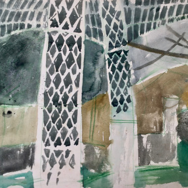Peter Potworowski - Pergola in an English Garden II, c 1951-4