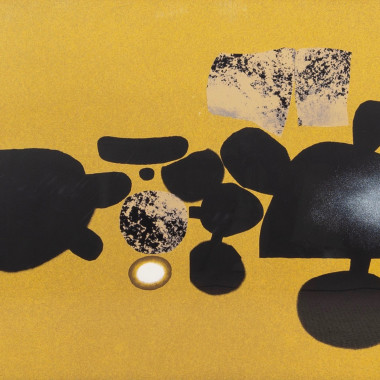 Victor Pasmore - What is the Object Over There? Points of Contact No.17, from Screenprints with Poetry, 1973-74