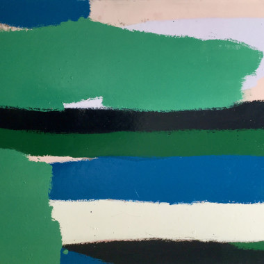 Barry Daniels - Untitled #2 (Green and Black Stripes), c 1960s