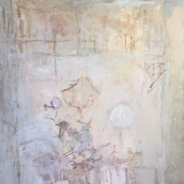 Mary Potter - Pale Grey and Pink (White Sun)