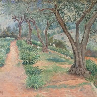 Lucien Pissarro - Les Oliviers, Temps Gris, Toulon, 1929