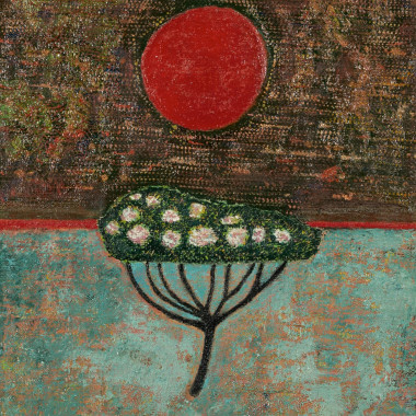 John Christopherson - Flowering Tree and Harvest Moon (29th March), 1966