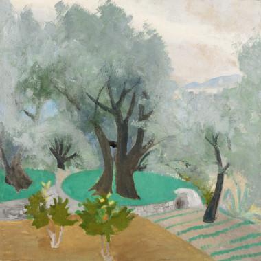 Winifred Nicholson - Spring Landscape (Castagnola Terrace), 1922/30s circa