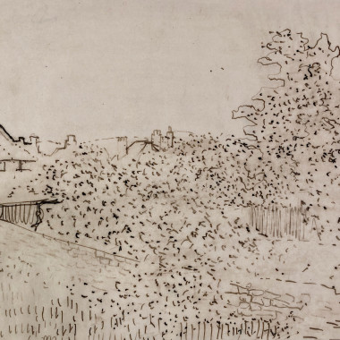 Victor Pasmore - Rooftops Through the Garden, c 1940s