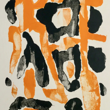 William Gear - Orange/Black, 1952