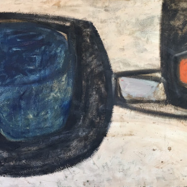 Thomas Nathaniel Davies - Cream, Blue, Red and Black, 1962
