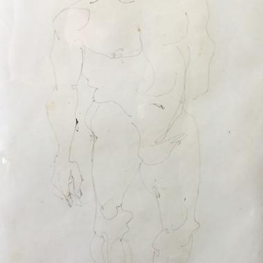 Henri Gaudier-Brzeska - Standing Nude (Horace Brodzky), c 1913