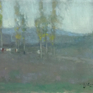 Samuel John Lamorna Birch - White (Landscape with Trees), 1897