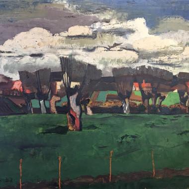 Floris Jespers - Paysage aux saules, 1932