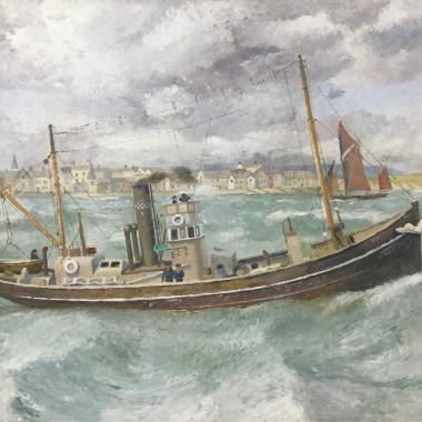 Richard Eurich - Naval Radio Broadcasting Steamboat, 1934