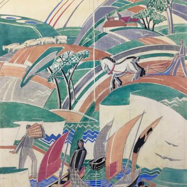 Phyllis Johnston - Design for a Mural