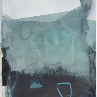 Sam Lock - Works on Paper III (Blue), 2017