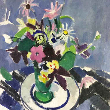 Mildred Bendall - Still life in Blue and Purple
