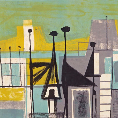 Henry Cliffe - Abstract (Cityscape), c 1952