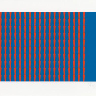 Tess Jaray - Towards Thorns I, 2014