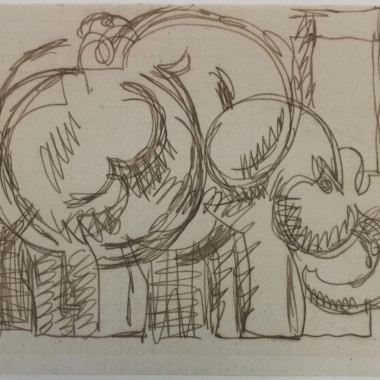 Duncan Grant - Elephant (Design for a Rug)