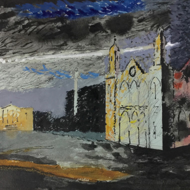 John Piper - The Gothic Temple, Stowe, c 1942-47
