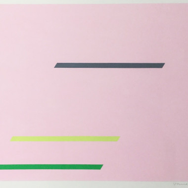 Marc Vaux - Abstract in Pink, 1967