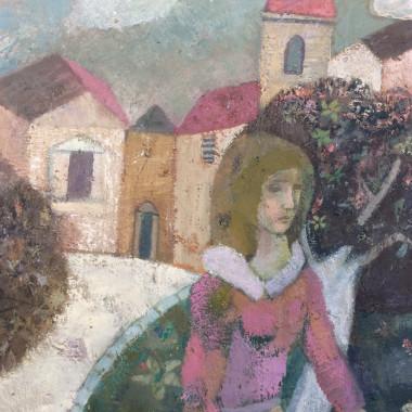 Gwyneth Johnstone - Figure in a Village