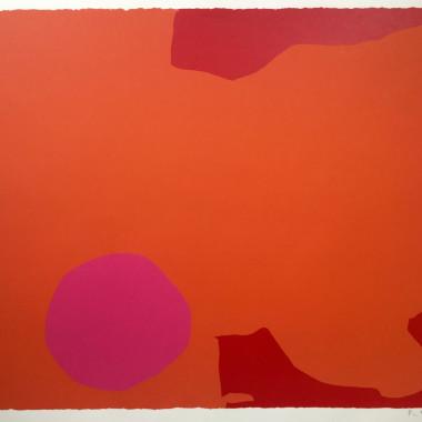 Patrick Heron - Magenta Disc and Red Edge, 1970