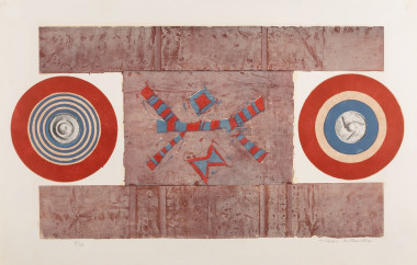<span class=%22title%22>Two Circles, Red, Blue and Brown<span class=%22title_comma%22>, </span></span><span class=%22year%22>1965-66</span>