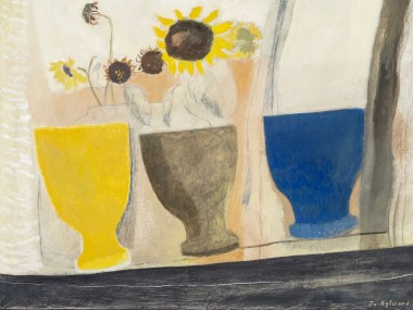 <span class=%22title%22>Three Goblets and Sunflowers in Various Stages of Drying<span class=%22title_comma%22>, </span></span><span class=%22year%22>2020</span>