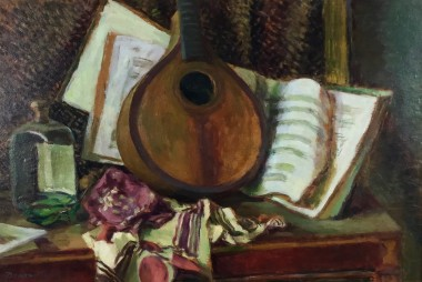 <span class=%22title%22>Still life with Mandolin<span class=%22title_comma%22>, </span></span><span class=%22year%22>c 1950s</span>