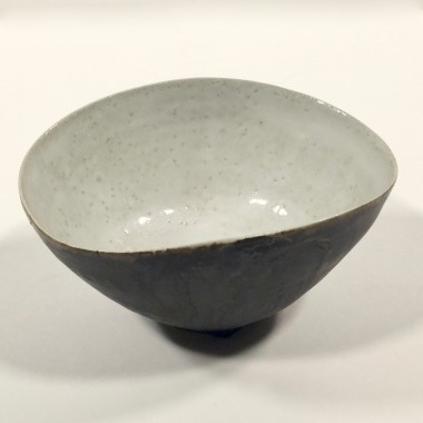 <span class=%22title%22>A squeezed bowl, dark with a light interior<span class=%22title_comma%22>, </span></span><span class=%22year%22>c 1950s</span>