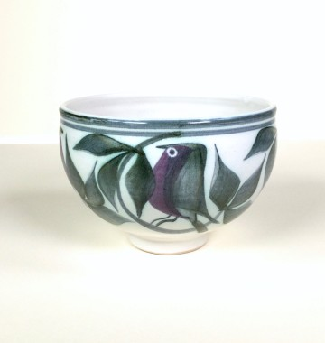 <span class=%22title%22>Bowl with birds, foliage and a sun</span>