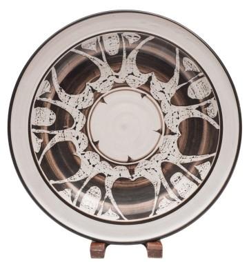 <span class=%22title%22>An Aldermaston Pottery plate<span class=%22title_comma%22>, </span></span><span class=%22year%22>1963</span>