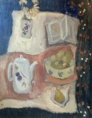 <span class=%22title%22>Still Life with White Teapot<span class=%22title_comma%22>, </span></span><span class=%22year%22>c 1960s</span>
