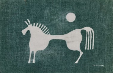<span class=%22title%22>Design for White Horse Table Linen, from Porthia</span>