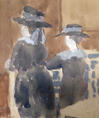 <span class=%22title%22>Two Girls in Church<span class=%22title_comma%22>, </span></span><span class=%22year%22>c 1920s</span>