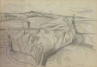 <span class=%22title%22>Study for The Deserted Sheep Pen<span class=%22title_comma%22>, </span></span><span class=%22year%22>c 1939</span>
