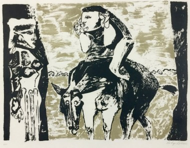 <span class=%22title%22>Man on Horse (Mysterious Figures, or The Journey)<span class=%22title_comma%22>, </span></span><span class=%22year%22>c 1960</span>