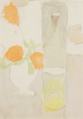 <span class=%22title%22>Orange Flowers and Bottle<span class=%22title_comma%22>, </span></span><span class=%22year%22>1960s circa</span>