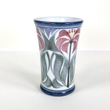 <span class=%22title%22>Flared vessel with flowering plants</span>