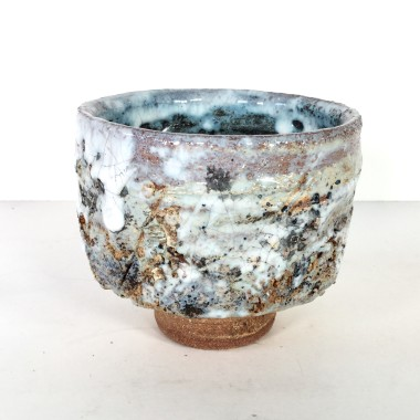 <span class=%22title%22>Footed bowl with volcanic surface</span>
