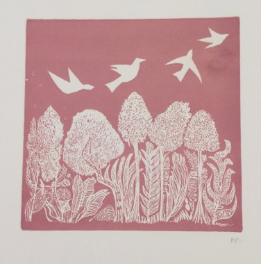 <span class=%22title%22>White Birds on Pink</span>