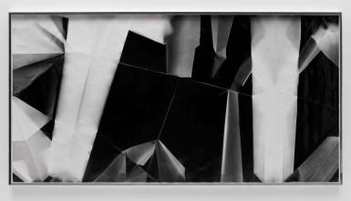 Fold (45º/135º/225º/315º directional light sources), December 31st 2012, Los Angeles, California, Ilford Multigrade IV MGF.1K, 2012