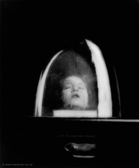 Tanja Ramm under a bell jar, 1930