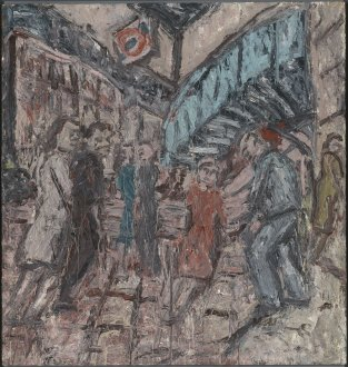 Outside Kilburn Underground March, 1985