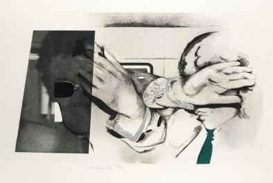 Swingeing London 67 etching, 1968