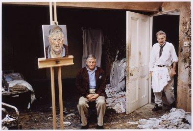 David Hockney; Lucian Freud, 2003