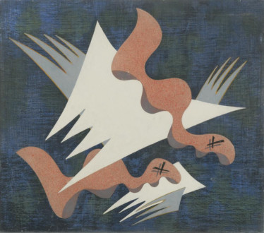 Composition on a Blue Ground II, 1933