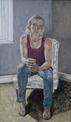 Amanda Ewbank, Self Portrait on Unfinished Chair, 2016